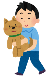 正しい犬の抱き方